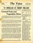 The Voice, September 1956 by Dordt College
